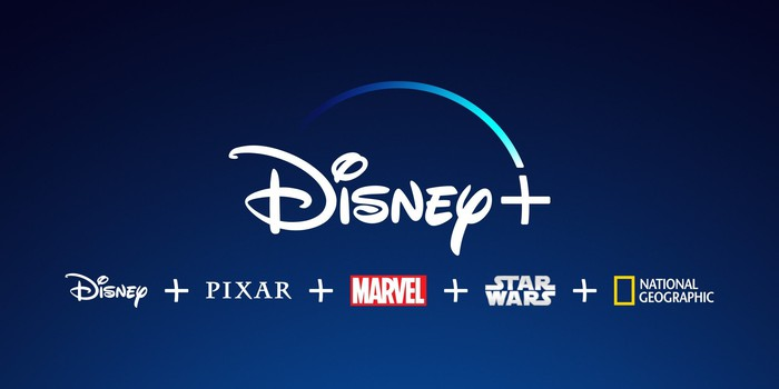 The Disney+ logo with its core brands.