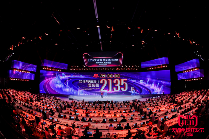 Alibaba's Singles Day event in 2018.