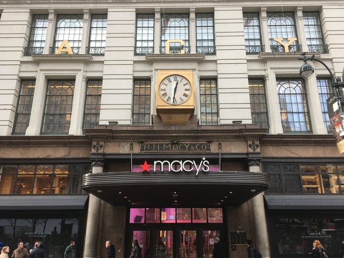Front of Macy's New York store.