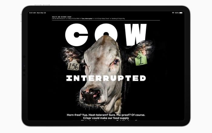 Magazine on an iPad