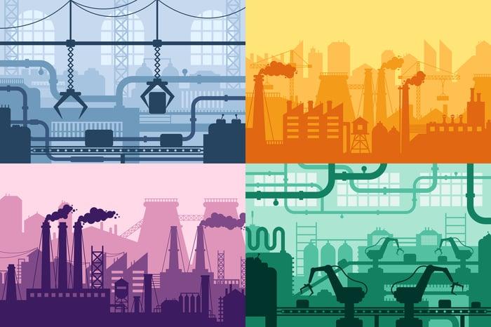 An industrial backdrop
