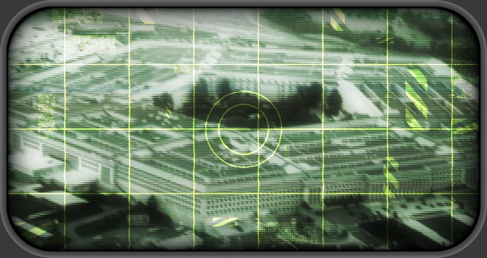 Pentagon in crosshairs on a FLIR targeting scope
