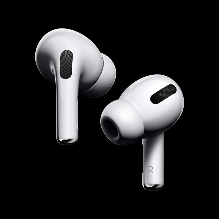 A pair of Apple's AirPods Pro.