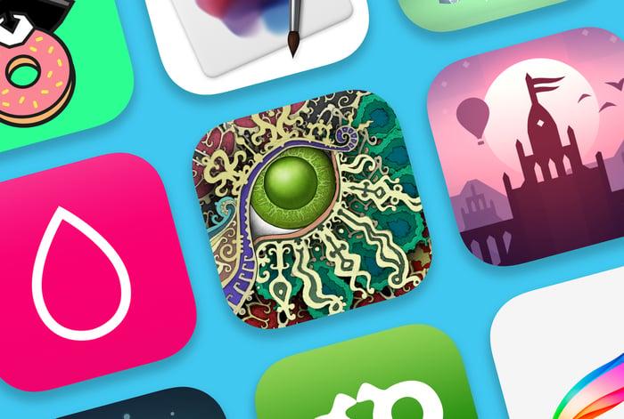 iOS app icons.