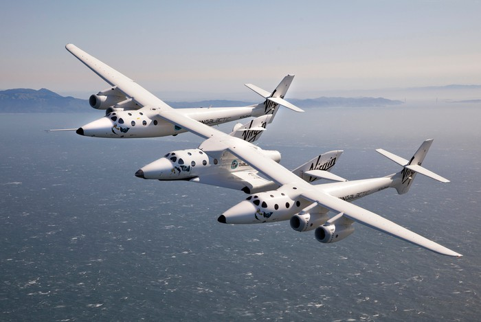 Image of Virgin Galactic SpaceShipTwo and WhiteKnightTwo
