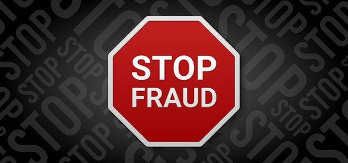 A stop sign that says Stop Fraud