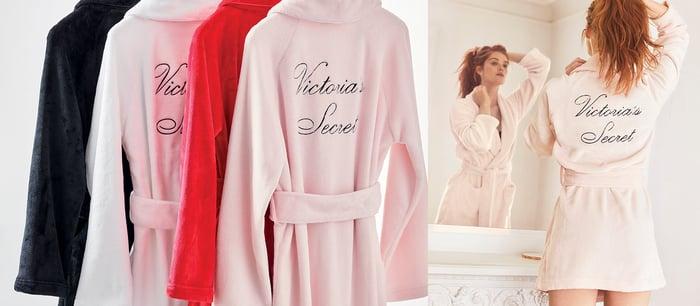 A Victoria's Secret robe.