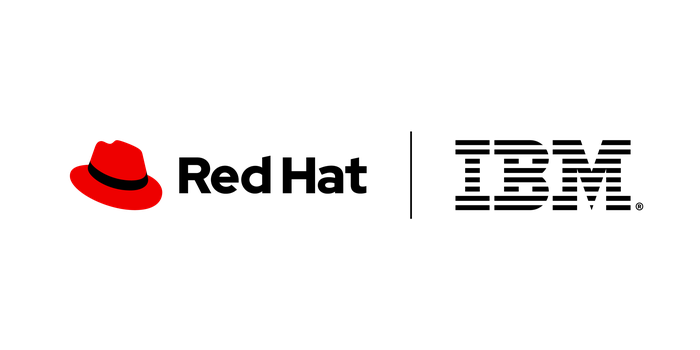 The Red Hat and IBM logos.