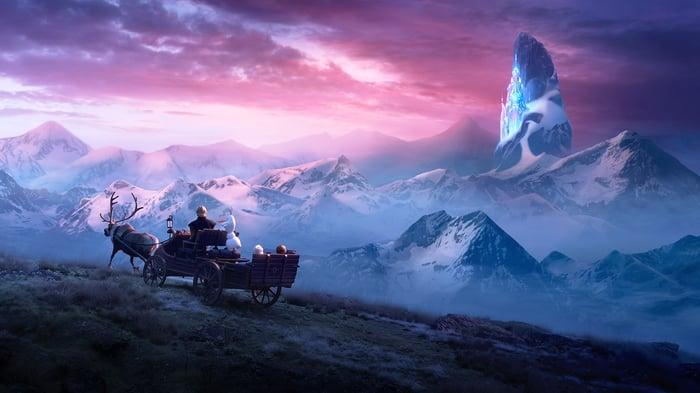 A scene from Frozen 2.