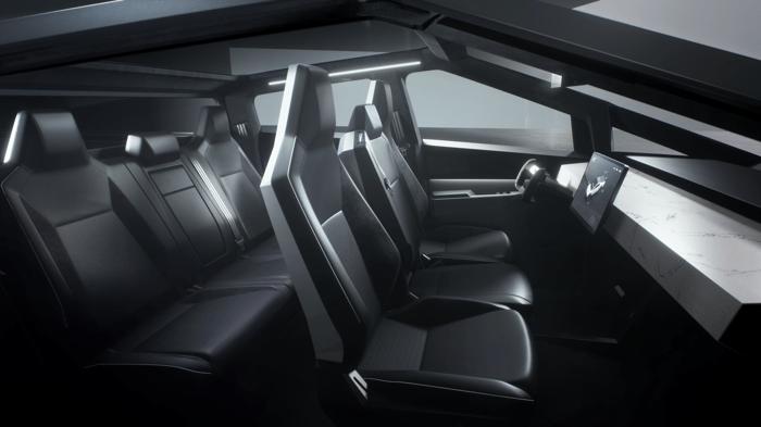 Tesla Cybertruck interior