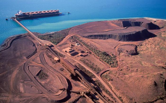 An iron ore port terminal.