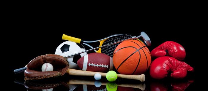 Assortment of sports equipment