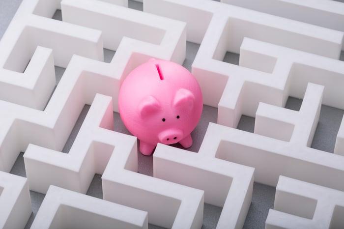 Piggy bank in a maze