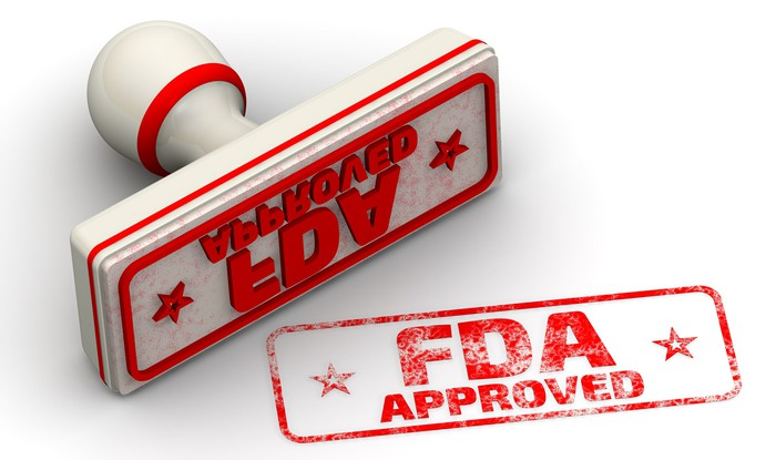 FDA Approved stamp in red ink