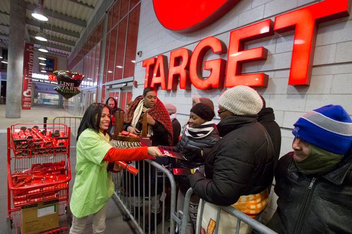 Black Friday crowds at Target.