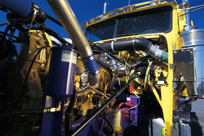 Heavy duty truck engine
