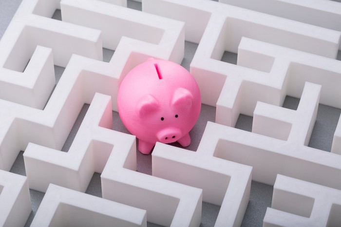 Piggy bank in a maze