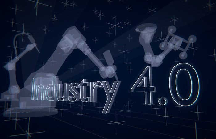 A montage of Industry 4.0 images