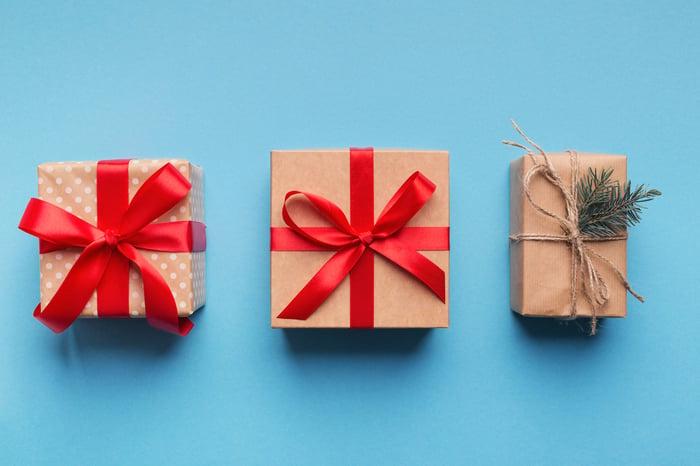 3 holiday presents.