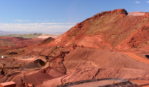 Iron Ore mine in the Pilbara of Western Australia.