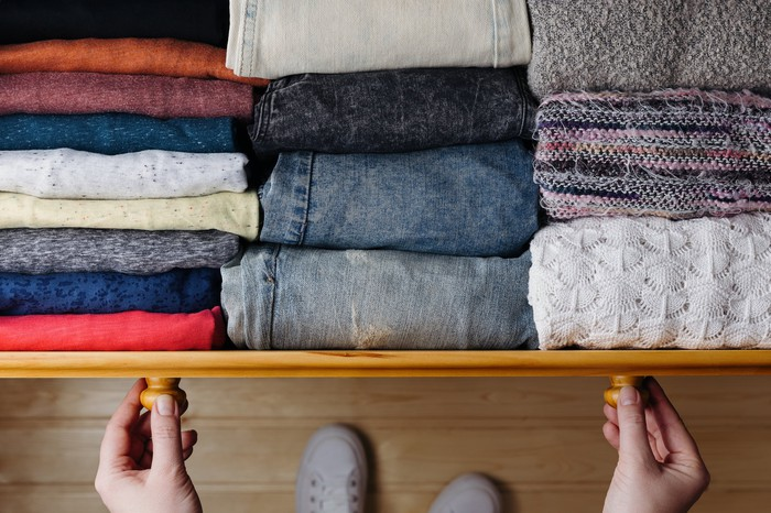 Dresser of clothes