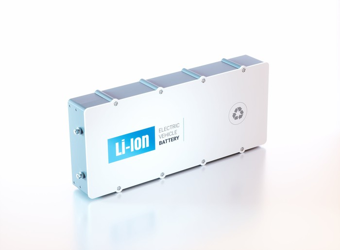 A lithium-ion electric vehicle battery.