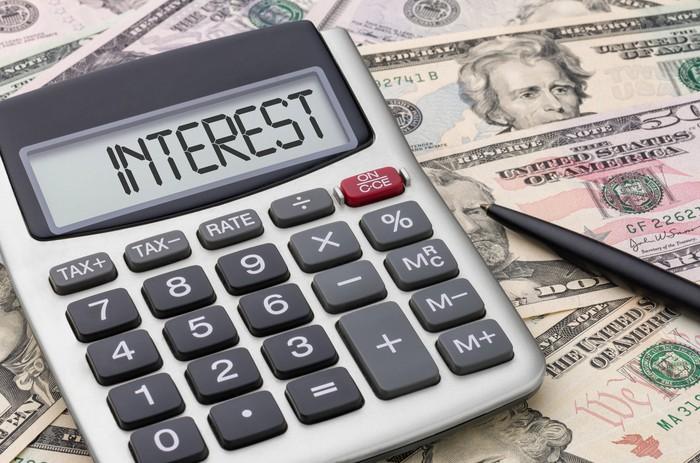 Interest rates on calculator