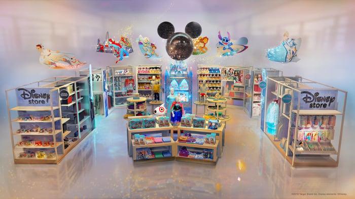 Disney at Target store.