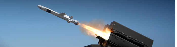 A Raytheon missile being fired.