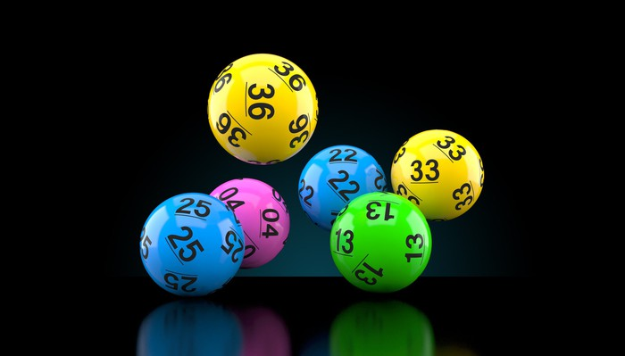 Lottery balls in various colors