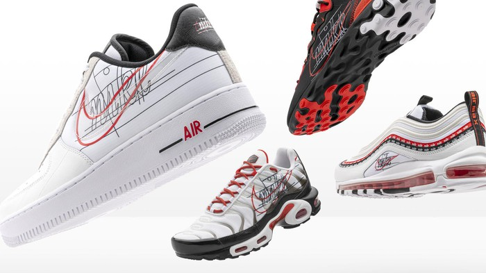 A selection of Nike shoes