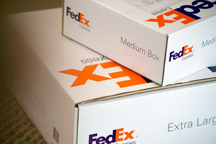 FedEx packages.