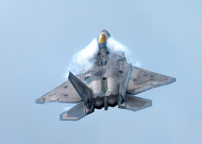 Lockheed Martin F-22 Raptor in flight