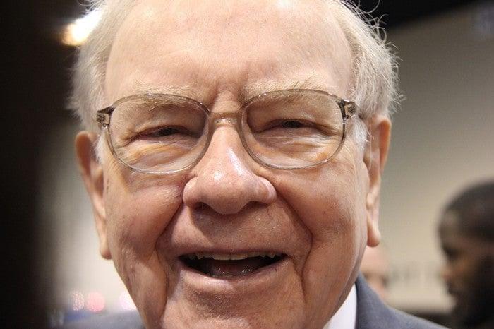 Close-up of Warren Buffet.