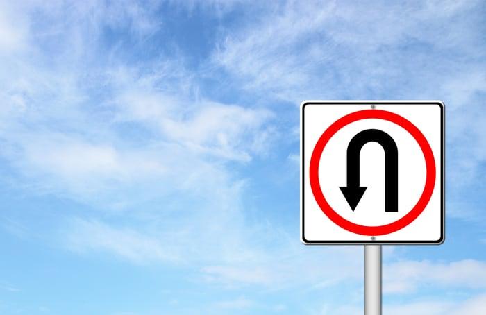 U-turn sign.