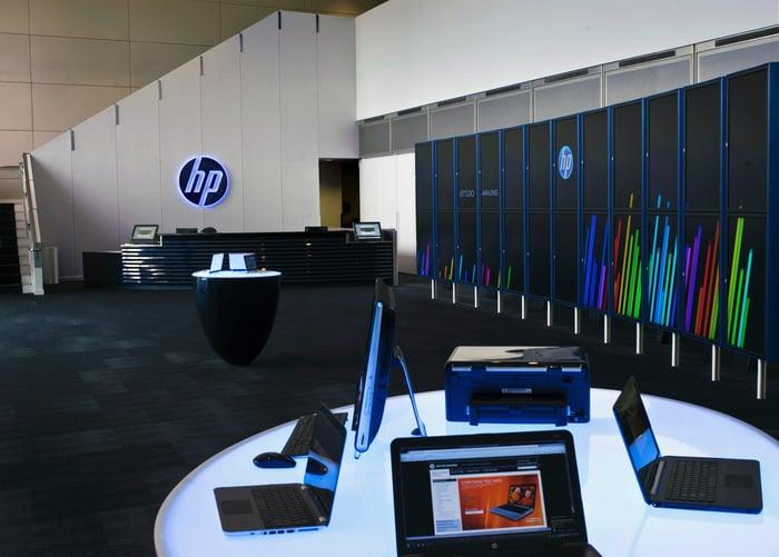 The HP Labs Palo Alto lobby.