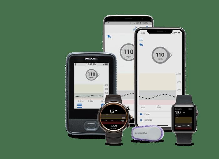 DexCom's CGM with smartphones and watches.