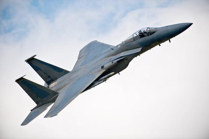 Boeing F15E Eagle military jet.
