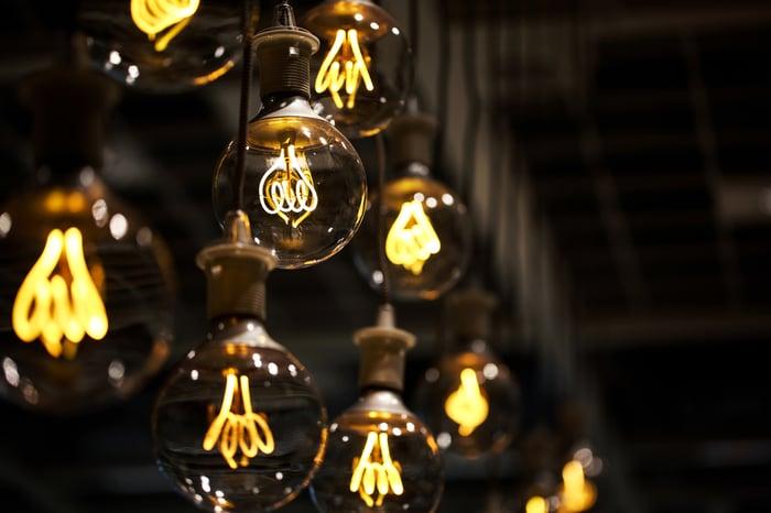 Energy powering light bulbs