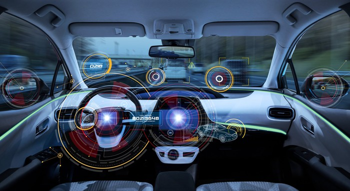 Artificial intelligence solutions in a car.