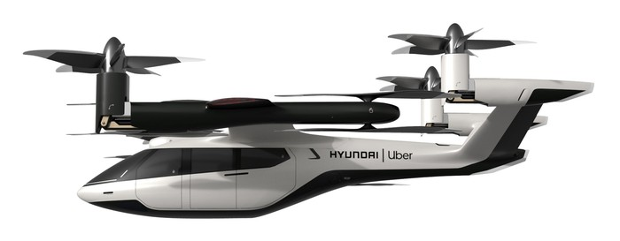 A Hyundai Uber concept personal air vehicle.