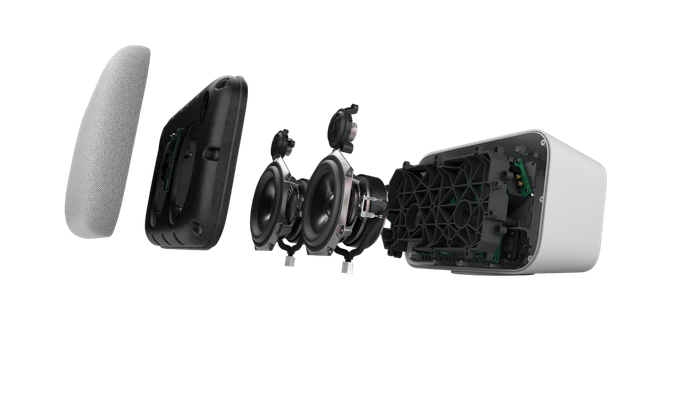 Exploded view of the Google Home Max speaker