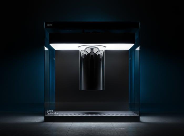 An IBM quantum computer.