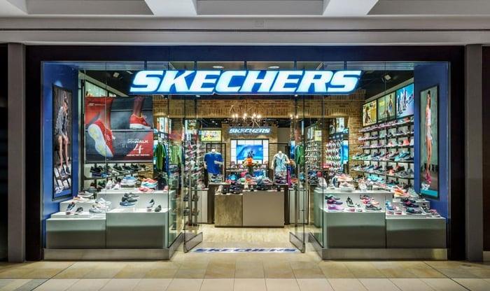 A Sketchers storefront.