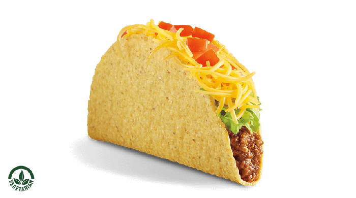 Beyond taco from Del Taco and Beyond Meat