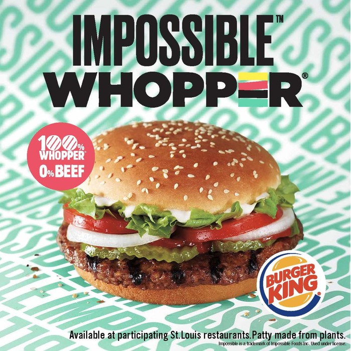 Burger King ad for the Impossible Whopper