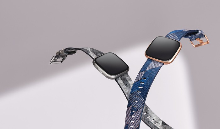 Two Versa 2 smartwatches