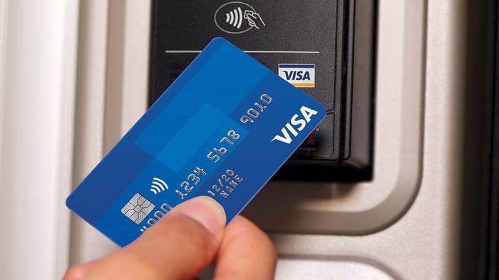 A Visa card.