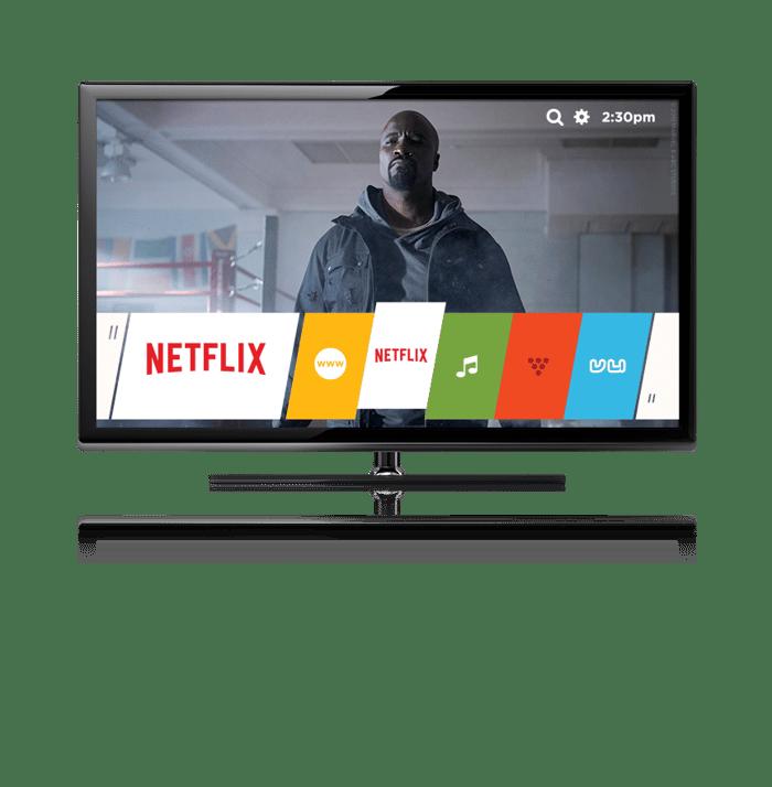 A Smart TV showing a Netflix show