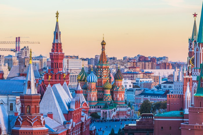 Red Square in Moscow.